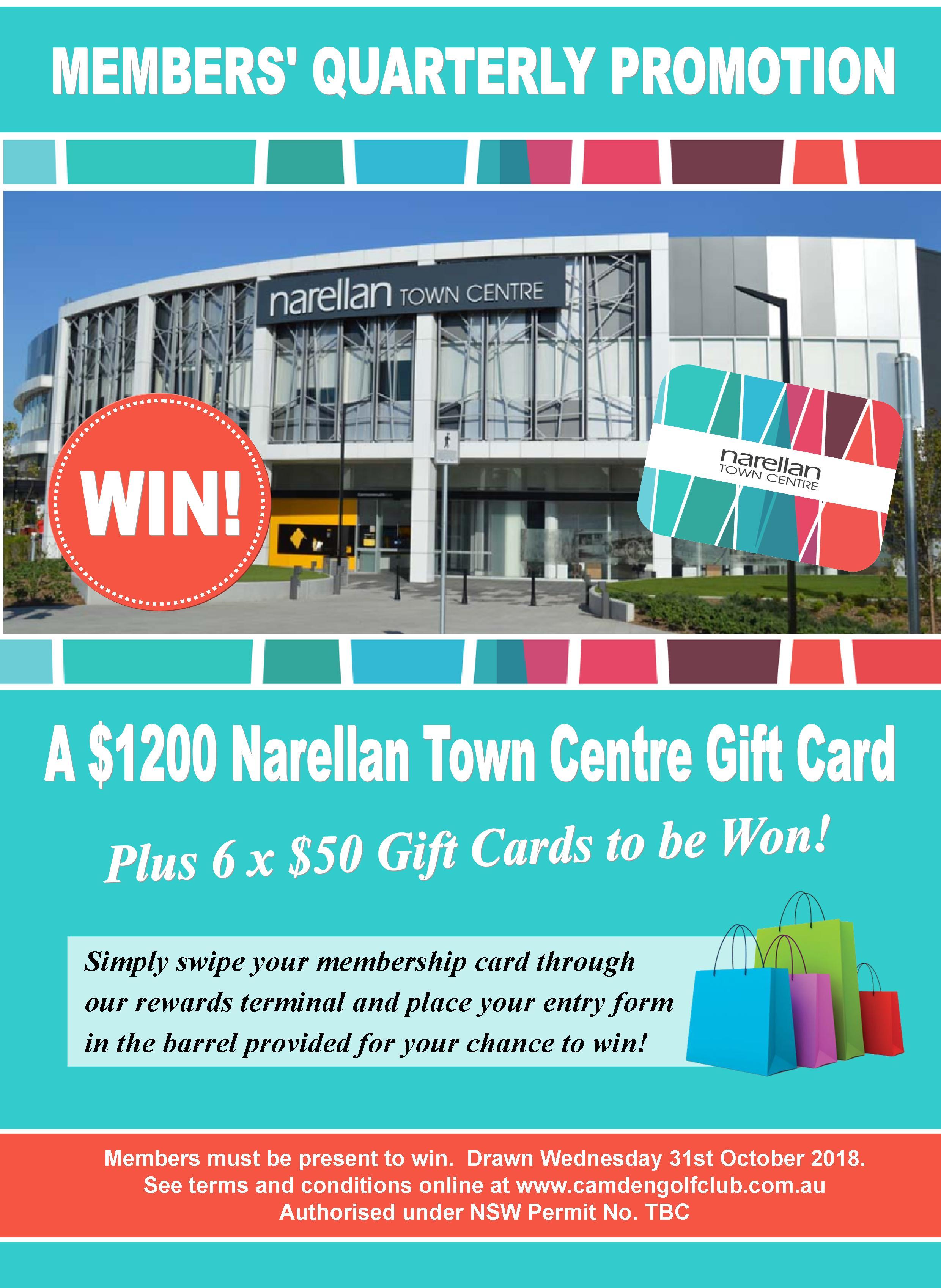 Win a $1200 Narellan Town Centre Gift Card