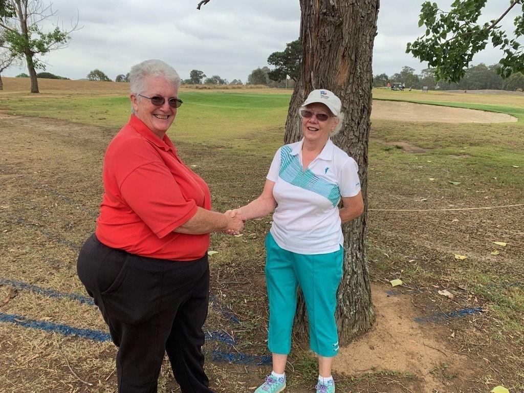Kim De Cean (L) with Patricia Gleeson (R)