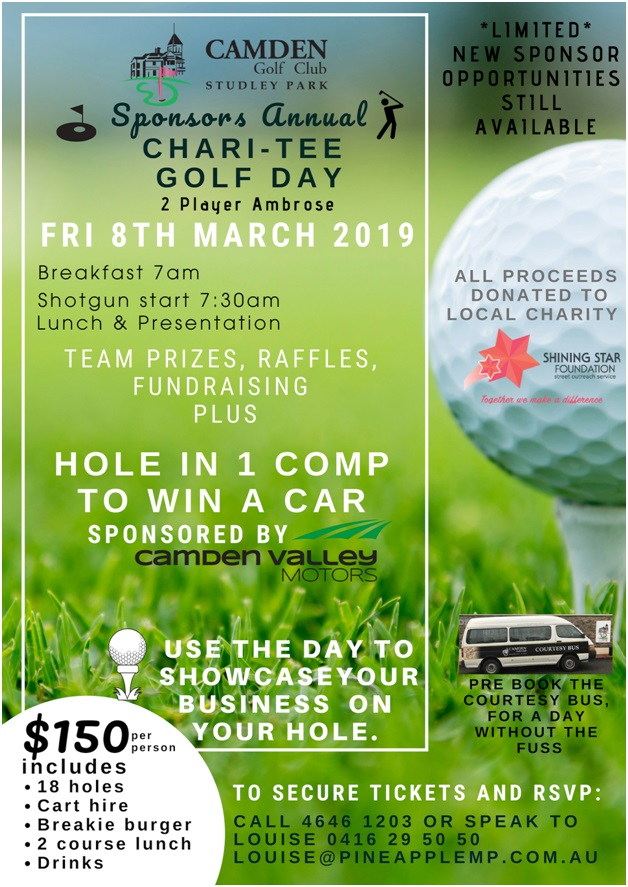 Sponsors Annual Chari-Tee Golf Day